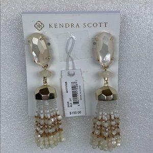 Kendra Scott Ivory Pearl Tassel Earrings